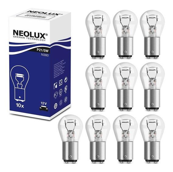 Kit 10 Lâmpadas Halógena Neolux 3200k P21/5w 12v Lanterna