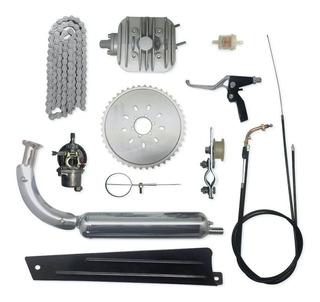 Kit Motor Para Bicicleta Gasolina 80cc 2 Tempos