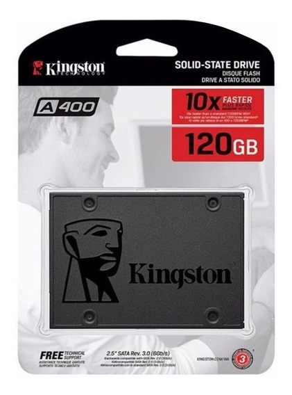 Hd Ssd 120gb Kingston Sata 3 A400 Seme-novo