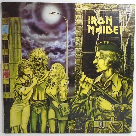 Iron Maiden 1980 Mujeres Uniformadas Women Uniform Lp Single