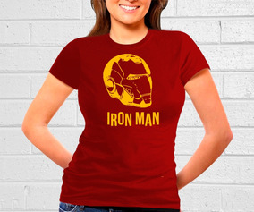 Playera De Caballero De Iron Man Casco