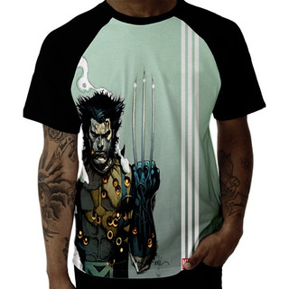 Camiseta Camisa Raglan Marvel Logan Wolverine X Men Hq Filme
