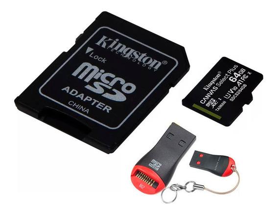 Memoria Micro Sd Kingston 64gb Canvas 80 M/s + Pendrive