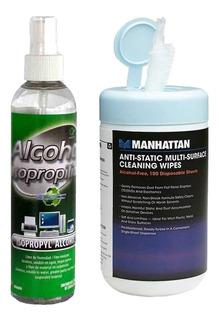 Desinfectante Spray + Toallitas Celular Superficies Germenes