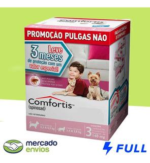 Combo Comfortis Cães De 2,3 A 4,5kg E Gatos De 1,4 A 2,8kg