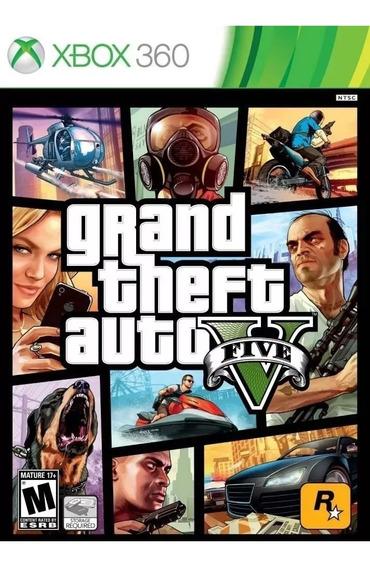 Grand Theft Auto V Gta 5 Xbox 360 Mídia Física Legenda Pt/br