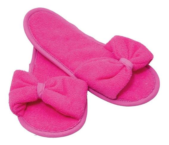 Pantuflas Para Baño Para Dama De Toalla Absorbentes Rosa