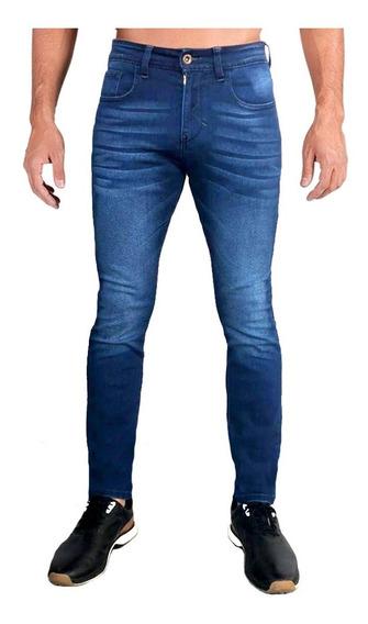 Jeans Pantalón De Mezclilla Caballero Skinny Stone Wash