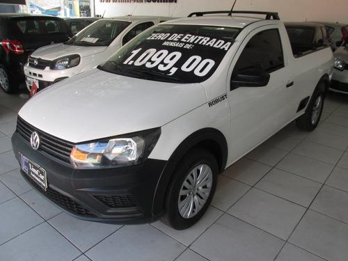 Volkswagen Saveiro Robust 2018 Completo Zero De Entrada