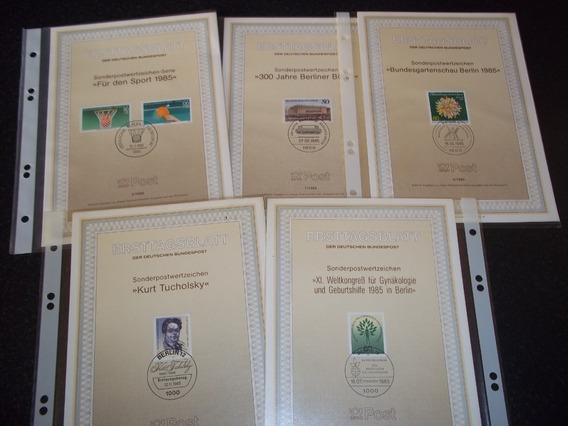 Deutsche Berlín Lote 10 Tarjetas 1º Día Emisión Año 1985