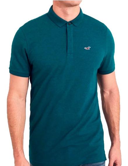Hollister Epic Flex Camisa Polo Verde Com Stretch
