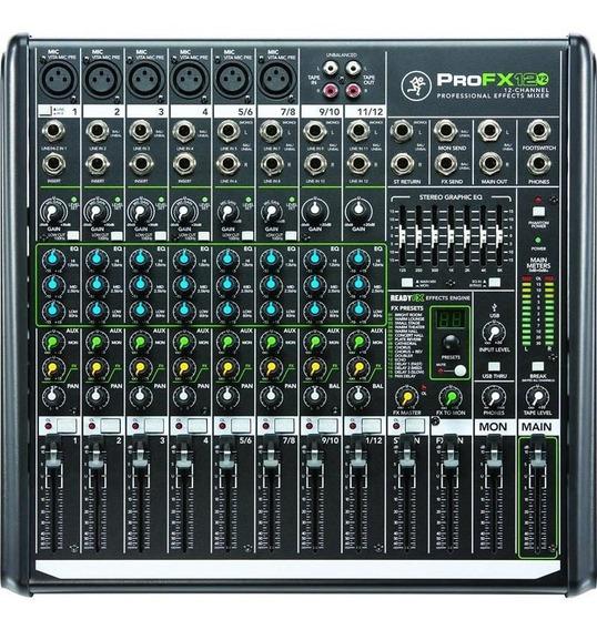 Mesa De Som 12 Canais Mackie Profx12v2 Mixer De Som