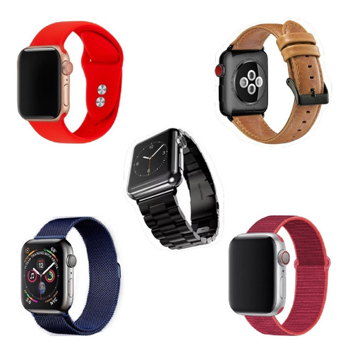 Correas Apple Watch Silicona Cuero Metal Nylon 38 40 42 44