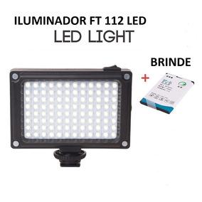 Iluminador Led Para Câmera Filmadora - 112 Led No Brasil
