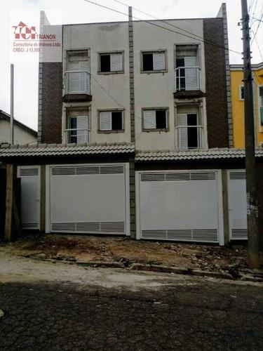 Imagem 1 de 13 de Cobertura Com 3 Dormitórios À Venda, 140 M² Por R$ 565.000,00 - Utinga - Santo André/sp - Co0934
