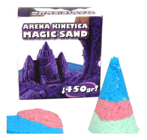 Imagen 1 de 7 de Arena Kinetica Magic Sand 450 Grs!!! 3 Colores De Arena