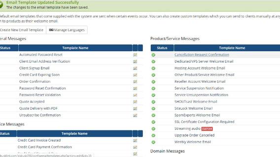Modelos De E-mails Para Whmcs Traduzidos Para Pt-br