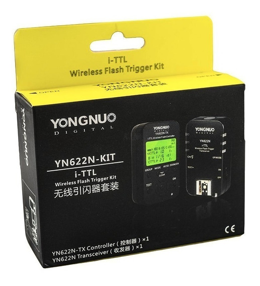 Kit Rádio Flash Yongnuo Yn622n + Yn622 Tx P/ Nikon./ Nota