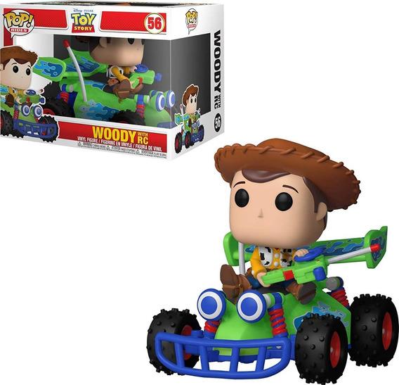 Toy Story Boneco Pop Funko Woody E Rc #56 * Caixa Danificada