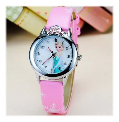 Relógio Frozen Princesa Anna E Elza Com Strass