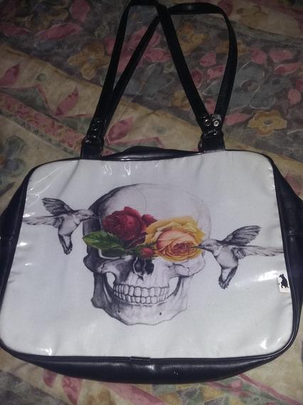 Cartera Calavera Y Rosas
