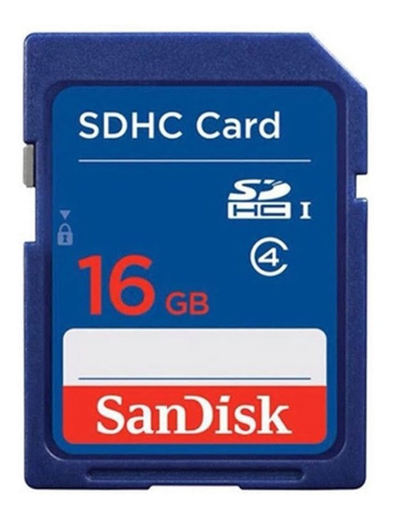 Cartão 16gb Sandisk Sdhc Card Sdhc I Class 4 - Full Capacity