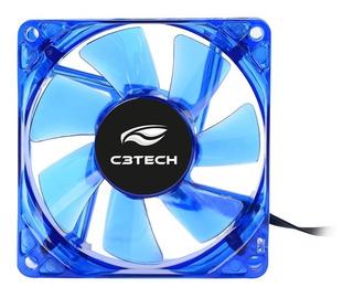 Cooler Fan Para Gabinete 8x8 F7 Led Azul - C3 Tech