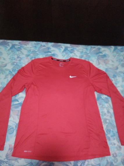 Playera Deportiva, Manga Larga Nike Running, Talla Xl Hombre