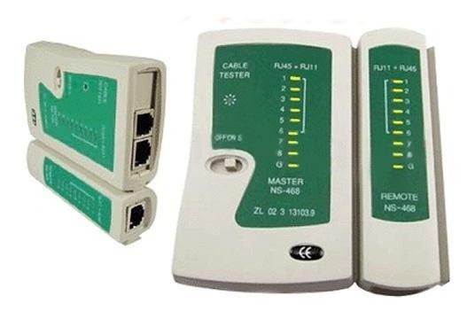 Testador Teste Crimpagem Cabo Rede Lan Rj45 Rj11 Telefonia