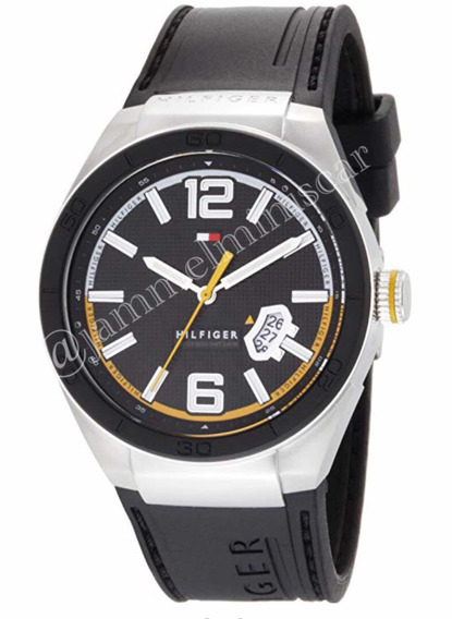 Relógio Tommy Hilfiger Masculino Borracha Preta 1790724