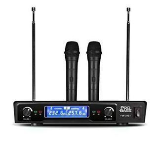 Microfono Inalambrico Doble Profesional Pro Bass Vf-212 80 M