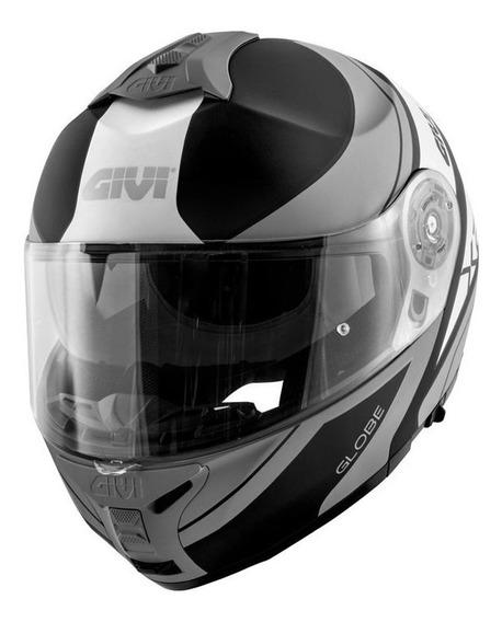 Capacete Givi X21 Globe Preto/cinza/prata S2r
