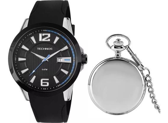 Relógio Masculino Technos Analógico T22 + Relg Bolso