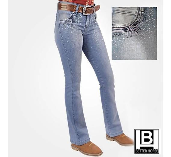 Calça Jeans Bordada/strass Alabama - Ref: 902.004.0750