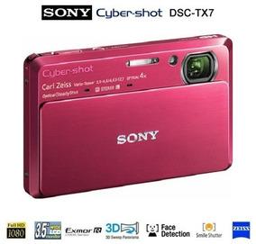 Câmera Digital Sony Dsc-tx7 Vermelha 10.2mp Zoom 4x Nova!