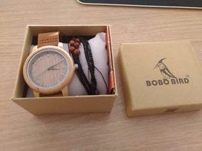 Relógio De Bambu Bobo Bird - Pronta Entrega - Original Novo