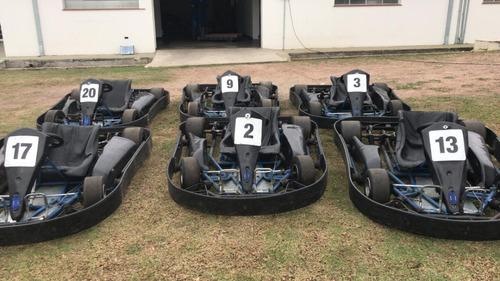 Lote Com 6 Kart Race Chassi, Motor Honda Gx270