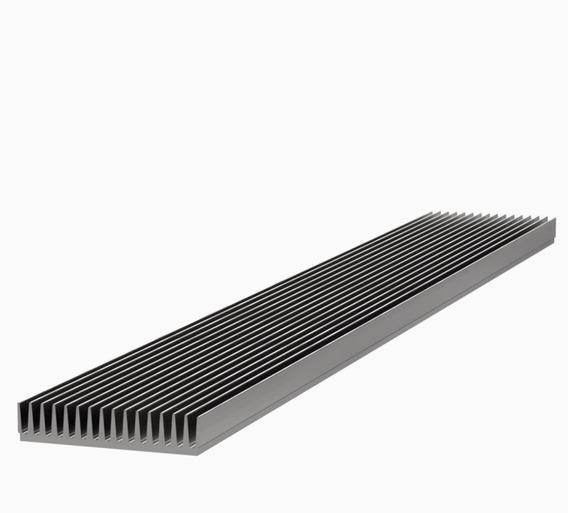 Disipador Aluminio Grande Alta Potencia - 13,5 X 1 Metro