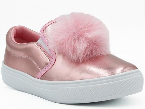 Imagen 1 de 6 de Oferta Descuento Promoción Tenis Pompon Calzado Niña Rosa