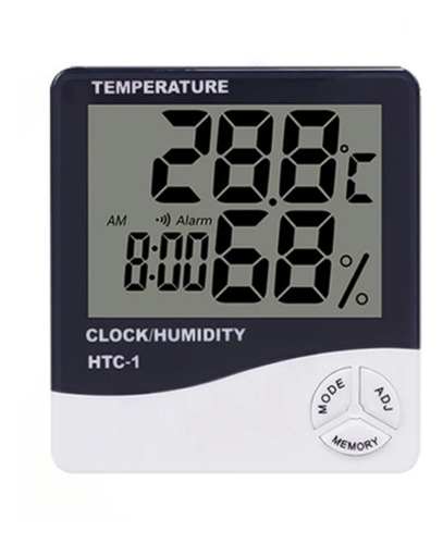 Htc1 Termohigrómetro Digital Lcd Termómetro Reloj