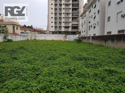 Terreno Em Santos, Ótima Localização. Ideal Para Um Novo Empreendimento Imobiliário. - Te0093