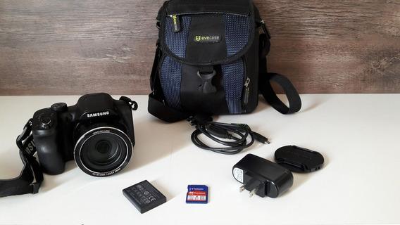 Câmera Samsung Wb1100f 16.2mp + Cartão 8 Gb + Case