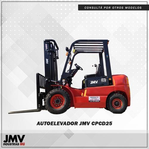 Autoelevador Jmv Cpcd 2500kg Con Desplazador Lateral Nuevo