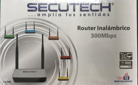 Secutech Router Inalambrico 300mbps 2antenas Ris-22s 4lan35v