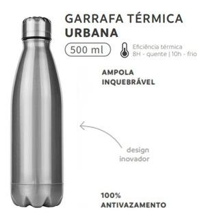 Garrafa Térmica Squeeze Inox 500 Ml Inquebrável Academia