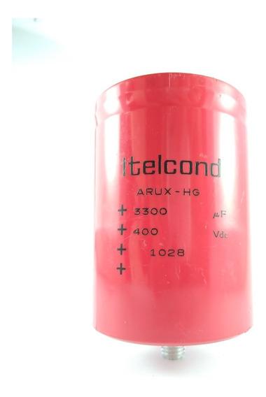 Capacitor Eletrolítico De Parafuso 3300uf 400v Itelcond Arux