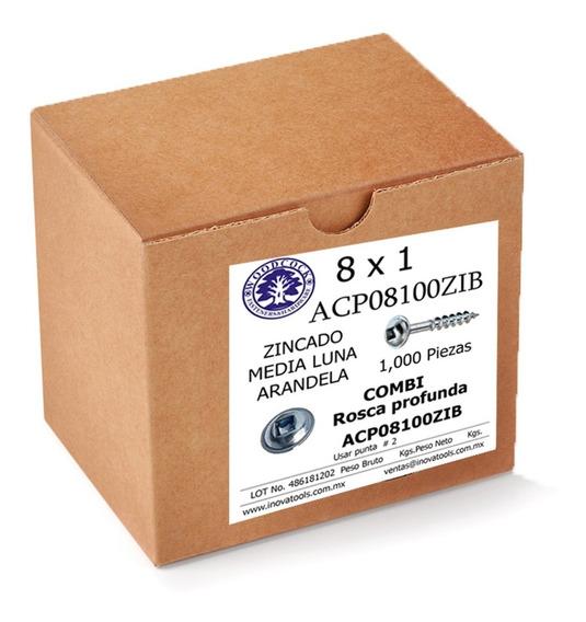 Tornillo Tipo Kreg Zinc 8 X 1 Empaque 1,000 Piezas