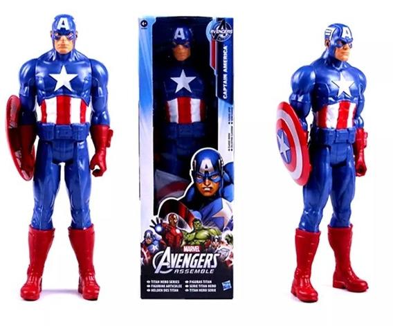 Boneco Capitão América Marvel 30cm Na Caixa
