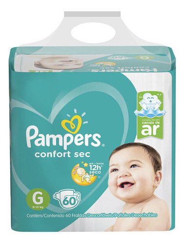 Imagen 1 de 1 de Pampers Confort Sec G X 60