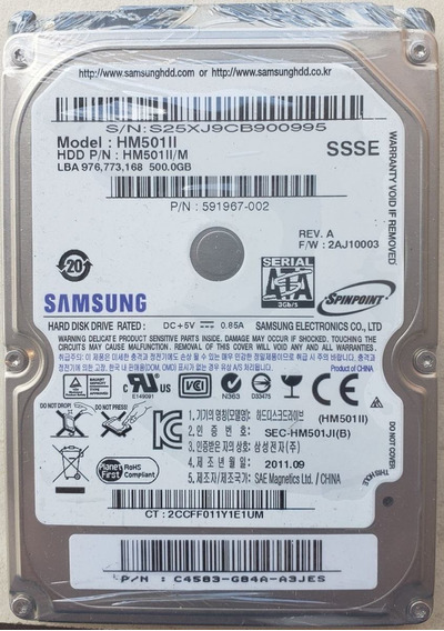 Disco Duro Samsung 500gb 9mm Laptop-pc-dvr-cctv-camaras